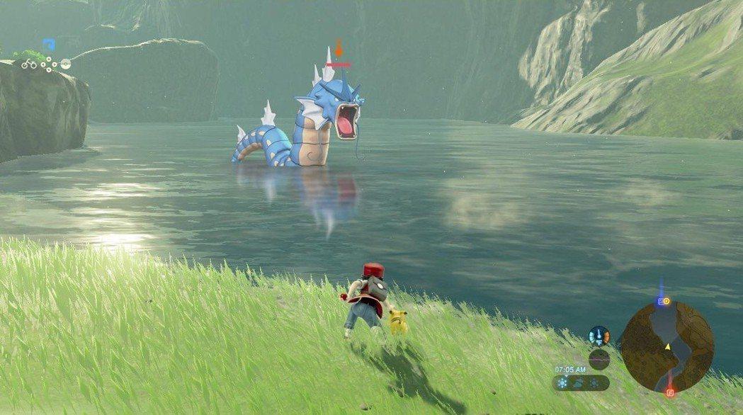 在一覽美景的過程中遇上了暴鯉龍,要選擇戰鬥嗎/圖片截自Reddit
