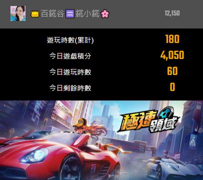 「錵小錵」主要玩《極速領域》。