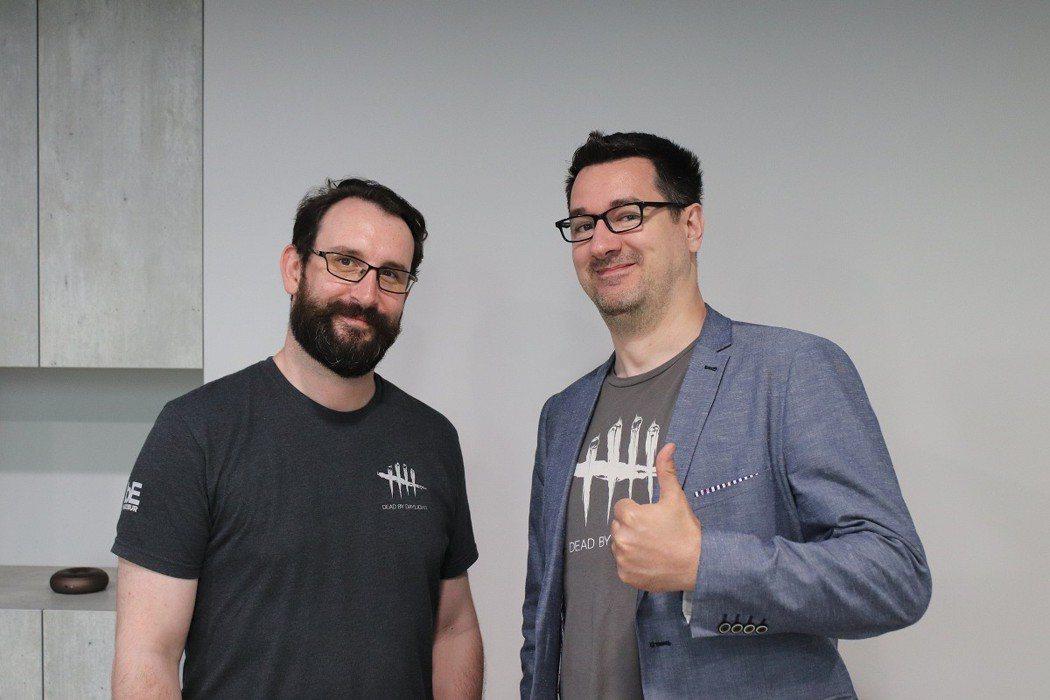 黎明死線手機版負責人Alexandre Rogaum(左)、遊戲總監Mathie...