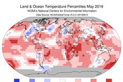 地球高體溫 今年5月全球溫度為139年來第四高