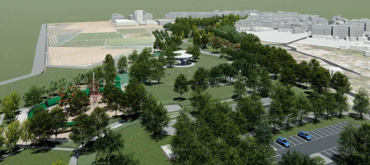 溪湖城鎮之心公園 高空溜滑梯、美式遊具將成亮點