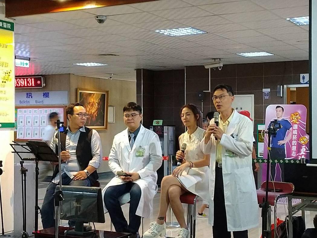 屏東醫院整型外科醫師林治邦醫師提醒,眼瞼下垂如果已明顯影響到視野,造成生活困擾,...