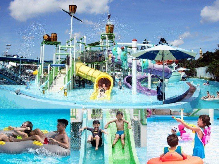 六福水樂園將於6月15日開放,讓大人小孩玩翻天。圖/六福旅遊集團