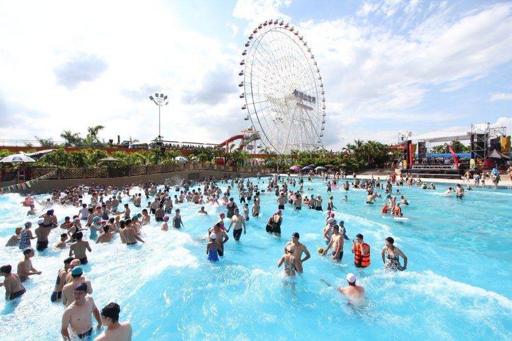 劍湖山世界主題樂園的水樂園正式啟用。圖/劍湖山提供