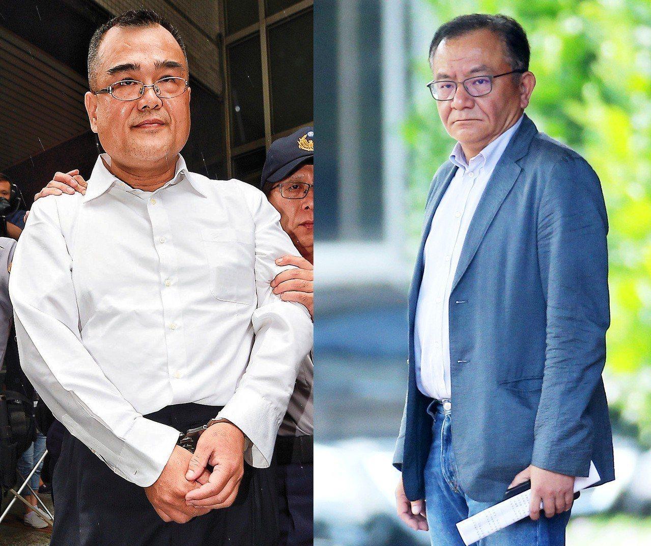林益世(左)申請外役監兩次遭駁回,高志鵬(右)坐牢五個月獲准移往外役監。本報資料...