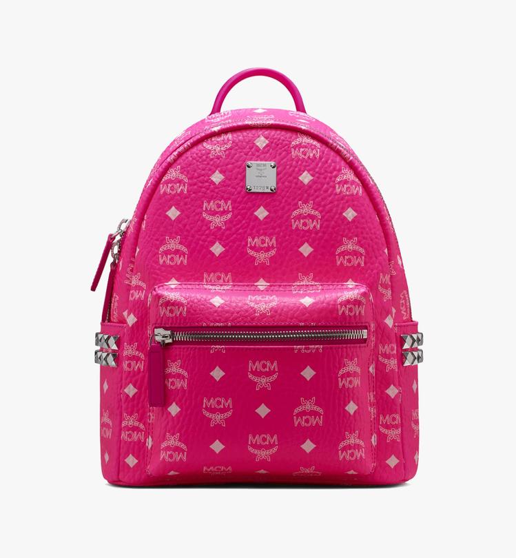 MCM Stark霓虹粉迷你後背包,售價25,000元。圖/MCM提供
