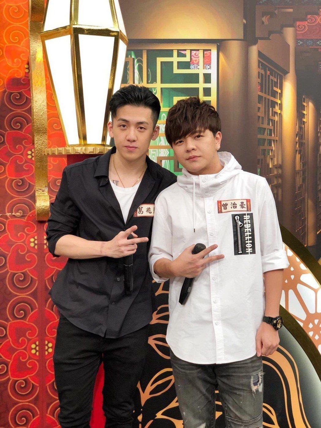 葛兆恩(左)和曾治豪惺惺相惜。圖/源礦娛樂提供