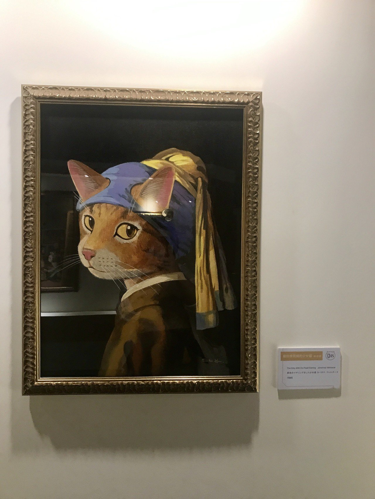 戴珍珠耳環的貓少女。記者江佩君/攝影