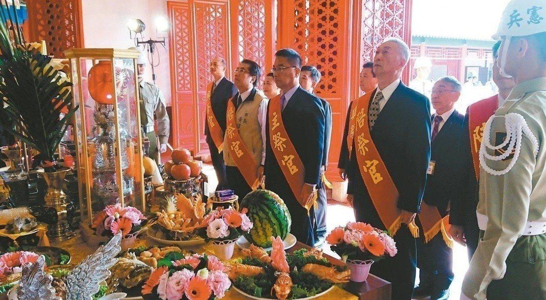 內政部長徐國勇今年4月29日南下台南參加鄭成功開台祭典。本報資料照片