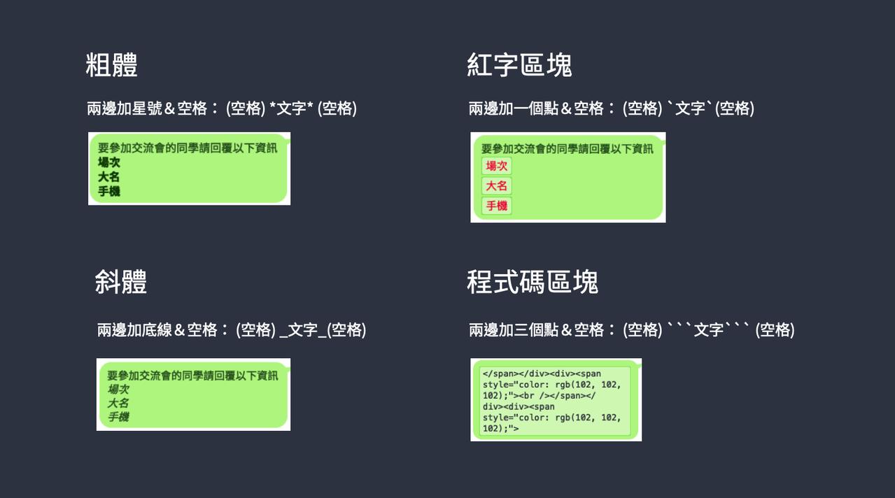 4組密碼讓文字內容更凸顯。圖/LINE官方部落格