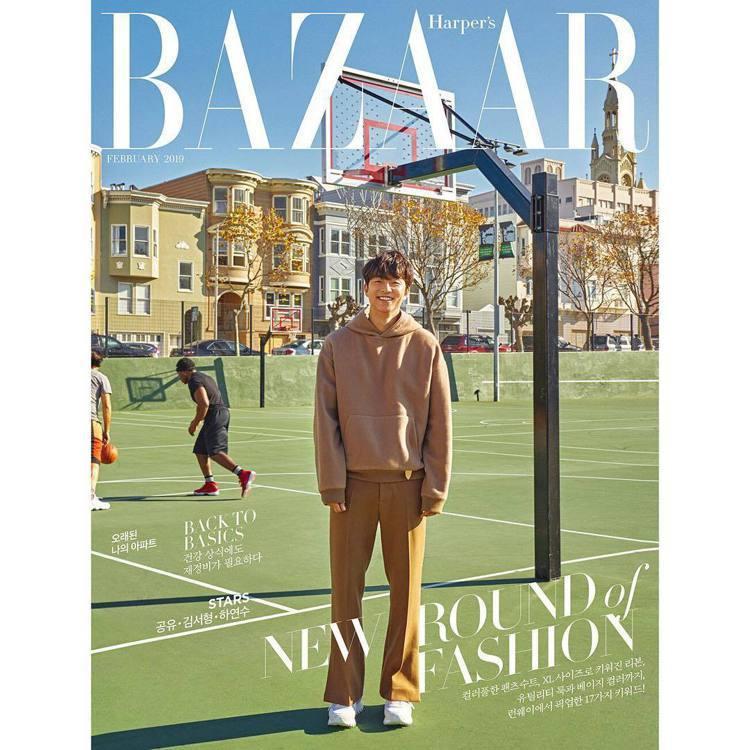 孔劉在舊金山拍攝《Harper's Bazaar Korea》雜誌2月號圖片。圖...