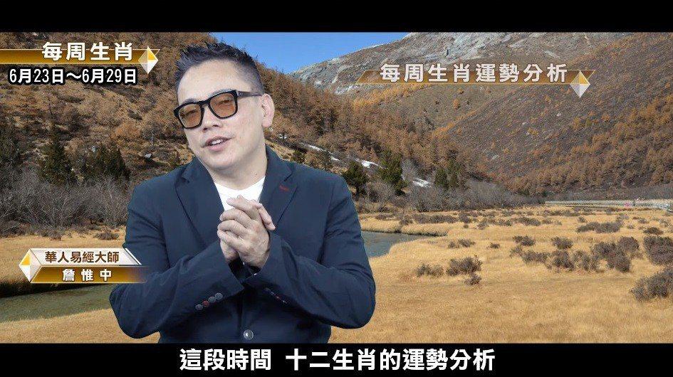 詹惟中生肖運勢。 圖/擷自YouTube