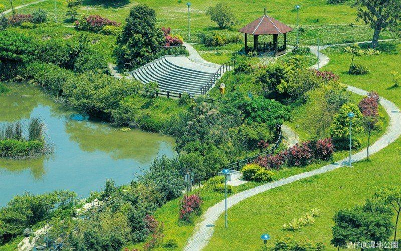 「聯合公園」傲踞塭仔底濕地公園首排,景觀甚優。 圖/聯合公園 提供