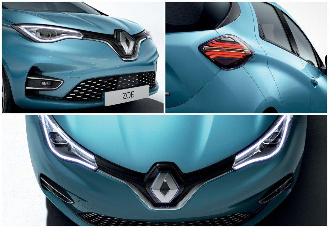 新世代Renault Zoe外觀變化幅度不算太多,但換上全新家族化的車頭設計,看...