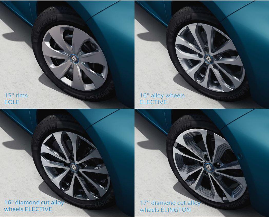 新世代Renault Zoe可選擇15吋至17吋的鋁圈大小。 摘自Renault