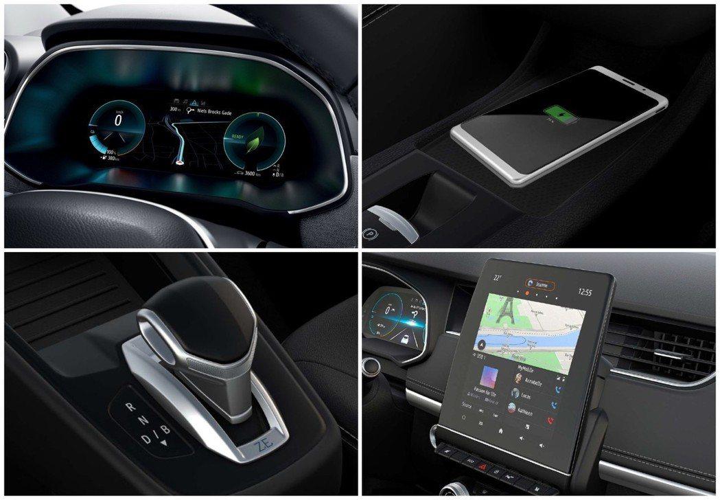換上數位儀表與大尺碼的中控螢幕後,讓新世代Renault Zoe內裝感受更為新潮...
