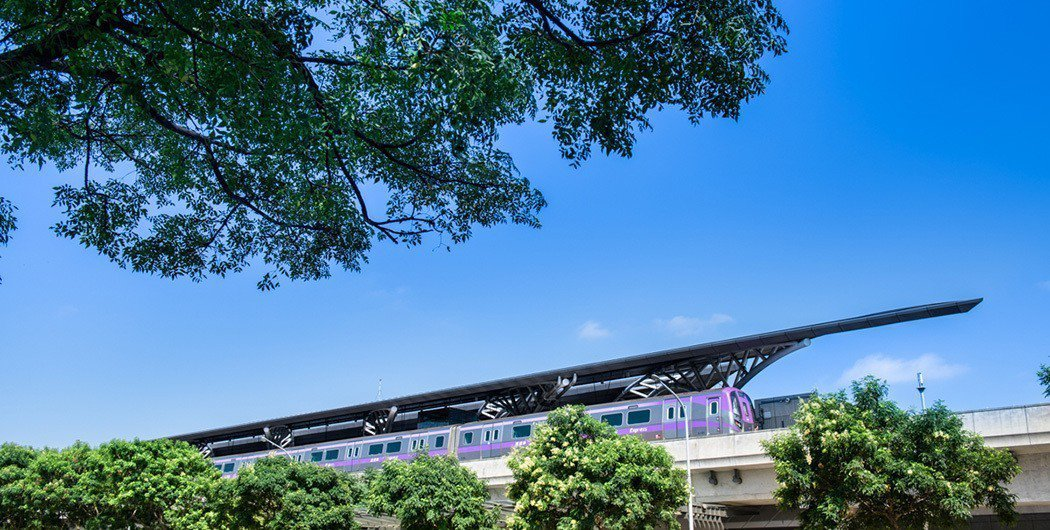 「捷寶雲品」基地800米處的機捷A18站可轉乘至大台北、桃園機場。