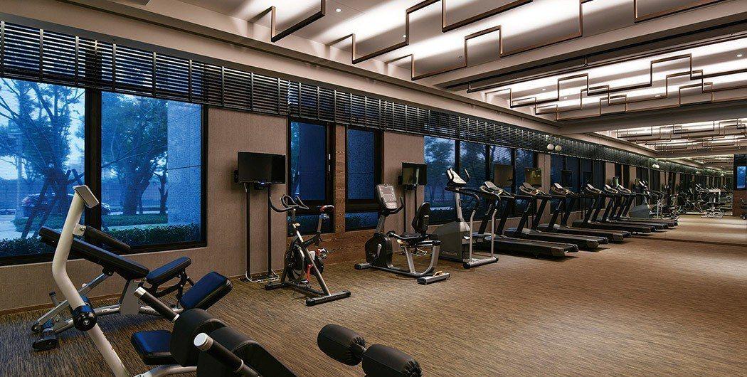 「捷寶雲品」公設豐富,體貼服務。圖為健身房。