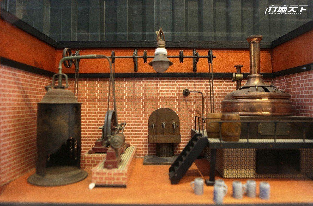 館內收藏的19世紀蒸汽釀酒廠模型。 ※ 提醒您:禁止酒駕 飲酒過量有礙健康