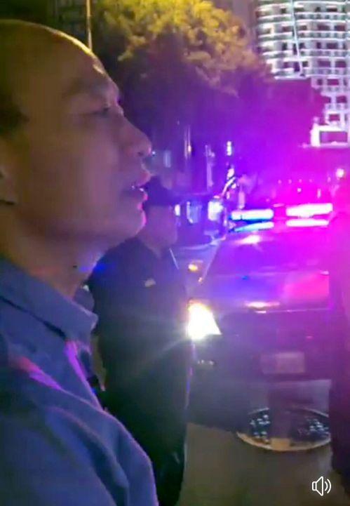高雄市長韓國瑜昨晚巡視警方路檢取締酒駕。圖/翻攝韓國瑜臉書