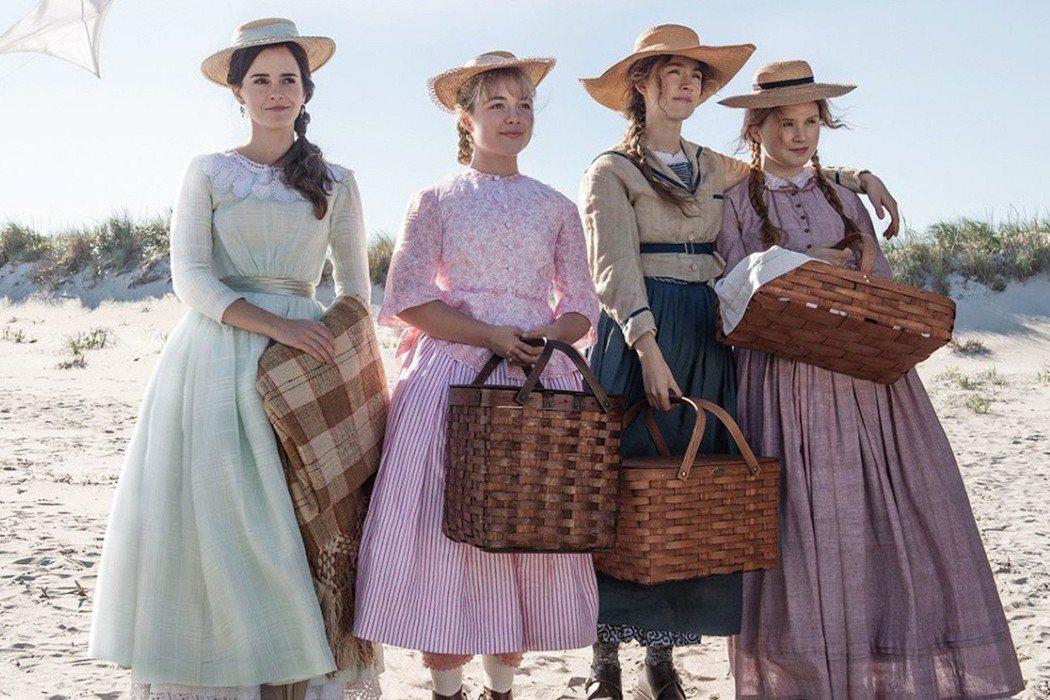 全新「小婦人」中的4姊妹。圖/摘自imdb