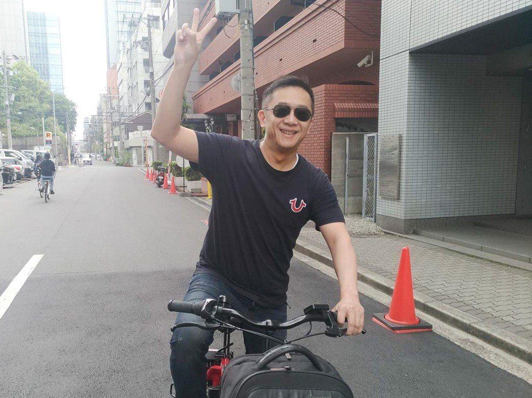 陳昭榮早起搶腳踏車常連早餐都沒得吃  圖/翰成數位直播提供