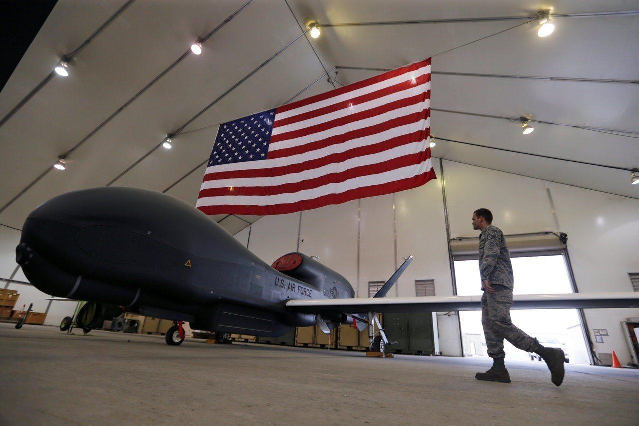 美軍全球鷹無人偵察機。路透