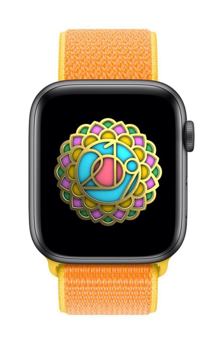 621國際瑜伽日,戴上Apple Watch完成指定健身記錄挑戰,即可獲得專屬獎...