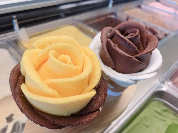 單色冰淇淋也很好吃。圖/June30th六月三十義式手工冰淇淋 提供