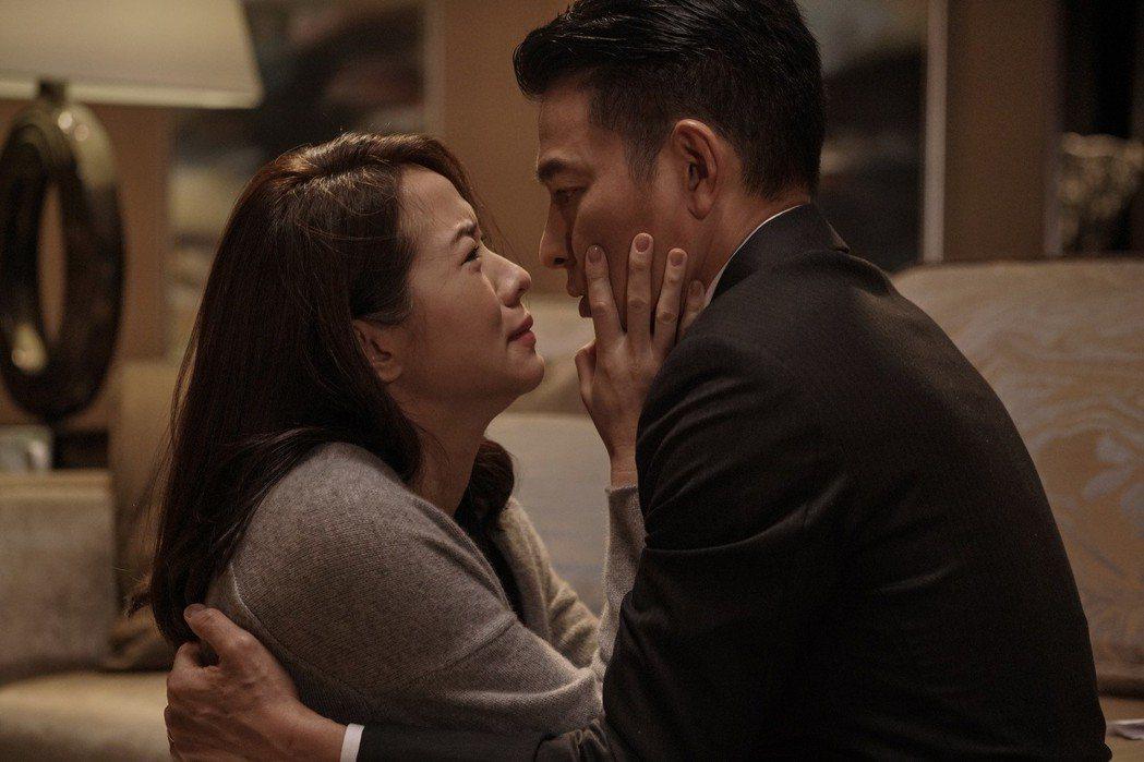 劉德華在新片「掃毒2 天地對決」與林嘉欣首度扮演夫妻。圖/華映提供