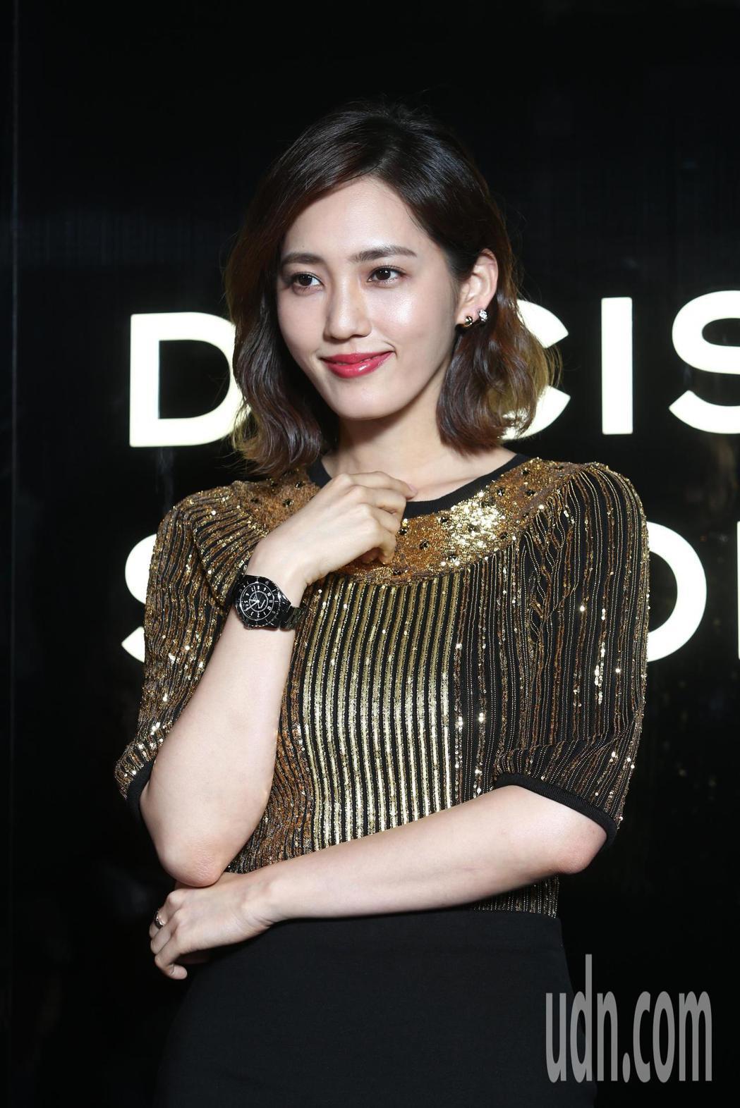 王棠云(余文樂老婆)出席香奈兒J12記者會暨派對。記者蘇健忠/攝影