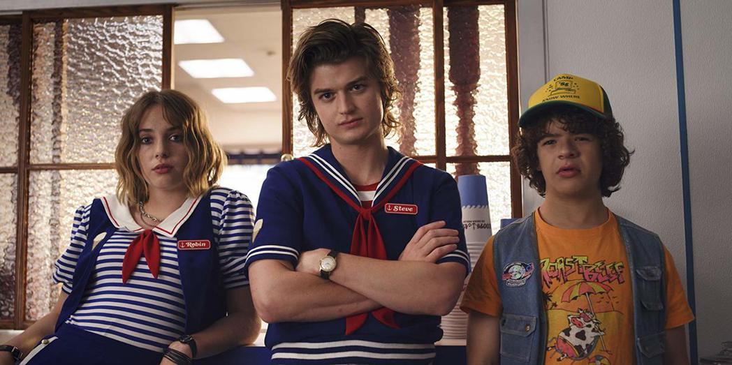 好萊塢星二代瑪雅霍克(左)加入「怪奇物語」第3季的演出。圖/摘自Netflix
