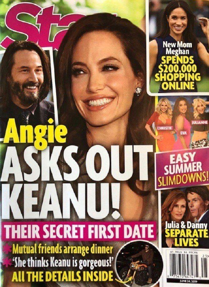 安琪莉娜裘莉被指看上基努李維,有意和他約會。圖/摘自Star