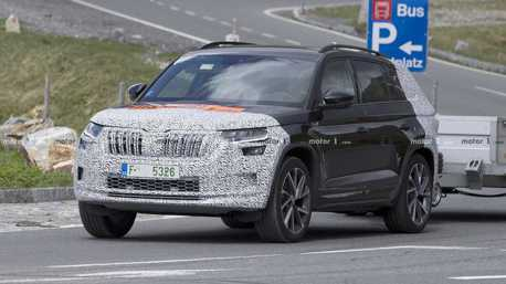 Superb iV插電動力有望移植 小改款ŠKODA Kodiaq偽裝車首次捕獲!