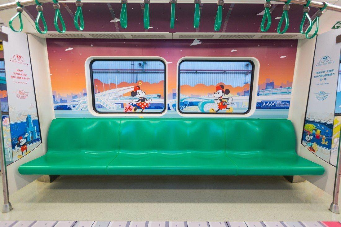 高雄捷運的米奇列車,可看見許多高雄代表景點。圖/高雄捷運公司提供