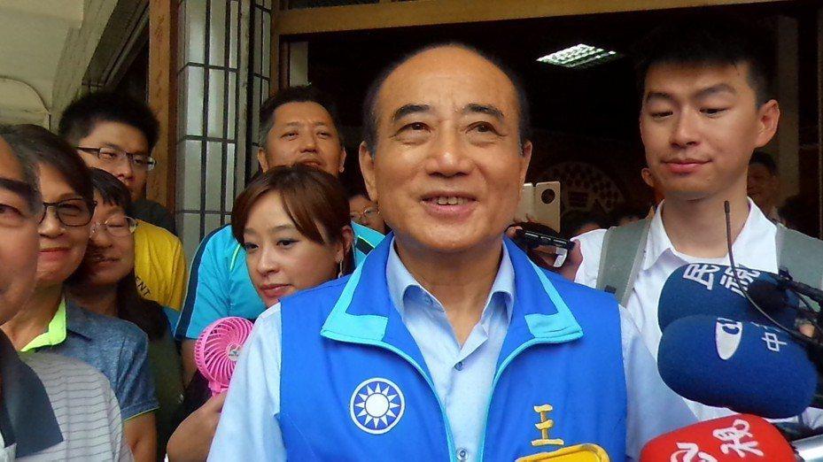 立法院長前院長王金平說,稱呼韓國瑜為「韓總統」不是口誤。記者林保光/攝影