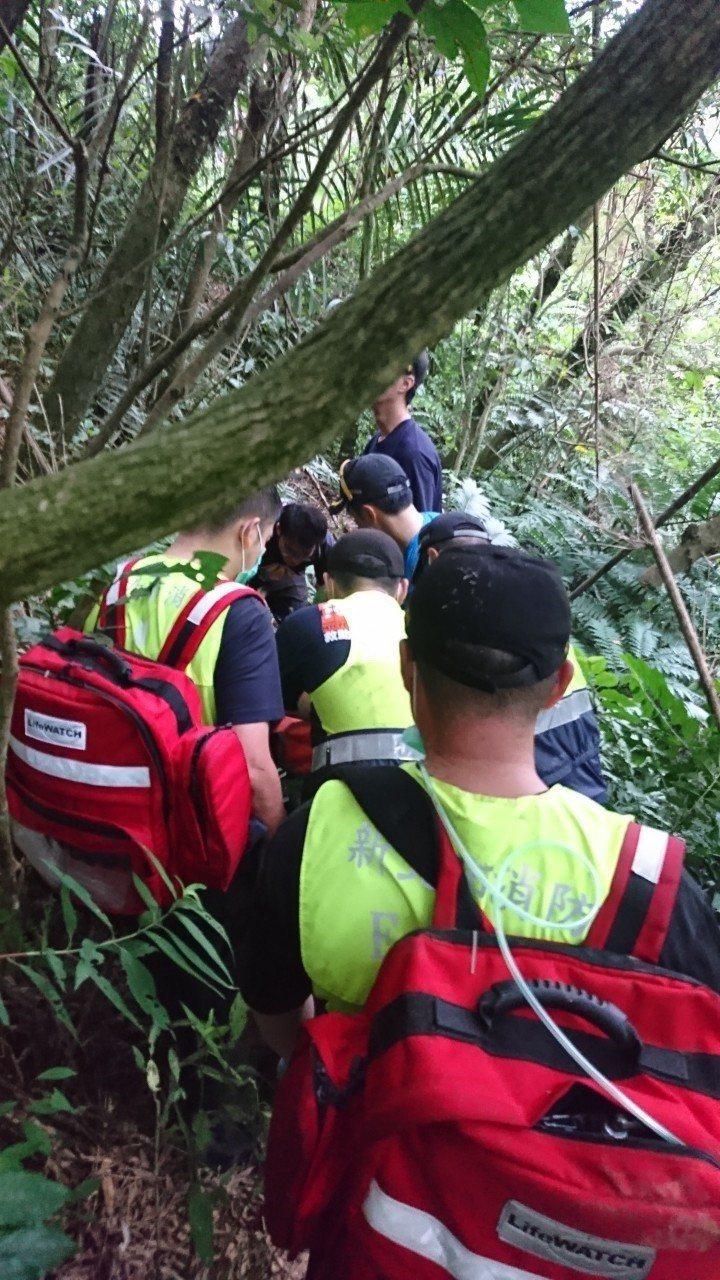 張姓夫婦今天上午到新北市雙溪區採竹筍,不慎碰到一處虎頭蜂窩,張男遭10多隻虎頭蜂...