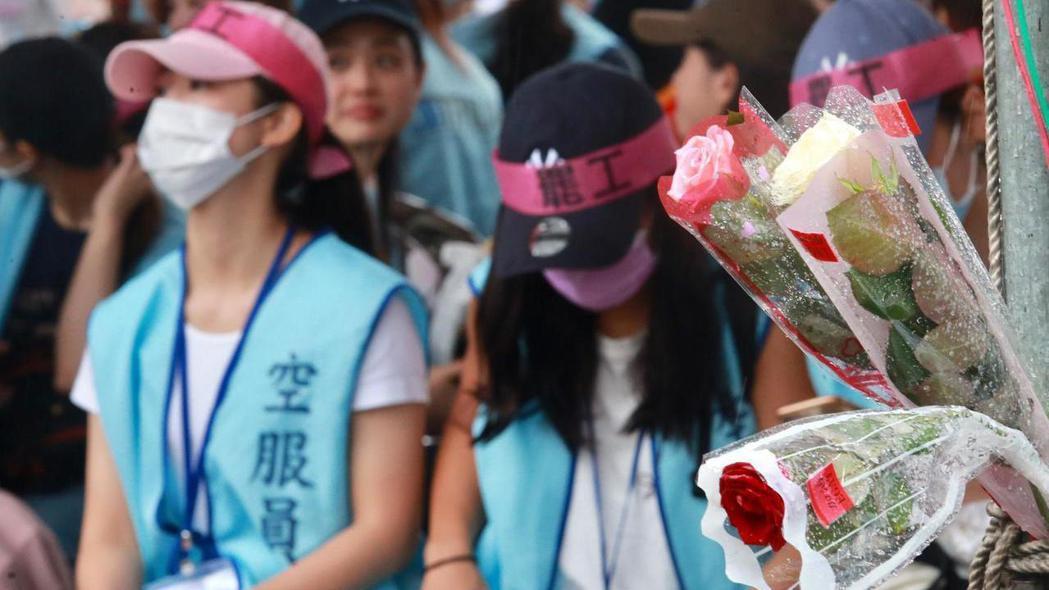 長榮航空空服員罷工行動進入第四天。 記者黃義書/攝影