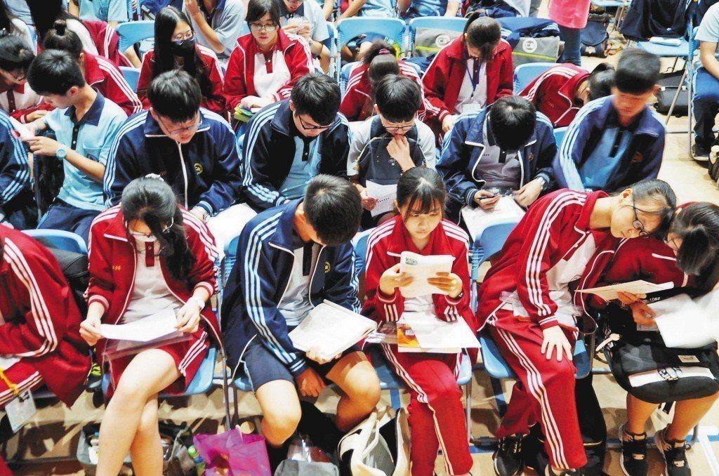 國中會考考場即景。 報系資料照片