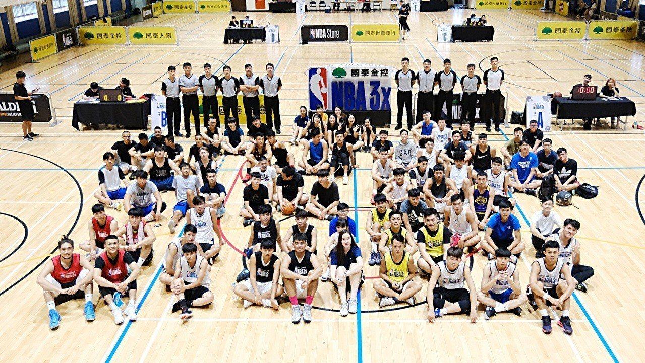 國泰NBA 3x預賽最後一周,於國立台北教育大學舉行,共吸引188支隊伍,爭取共...