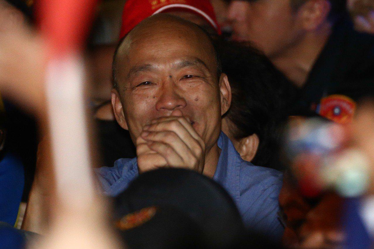 韓國瑜聲勢下滑。 聯合報系資料照/記者黃仲裕攝影