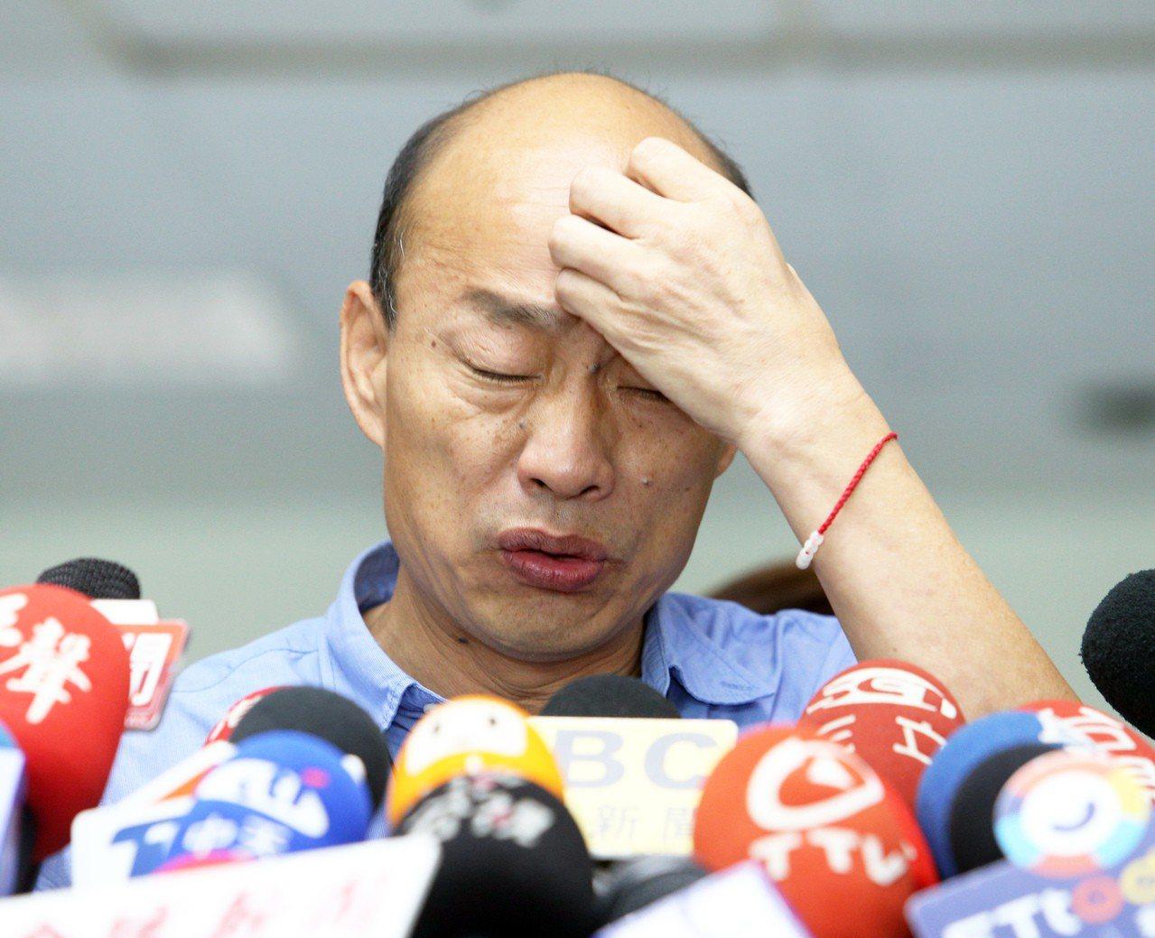 高雄市長韓國瑜說,麻煩抹黑他的人「能不能也周休二日休息一下」。 圖/聯合報系資料...