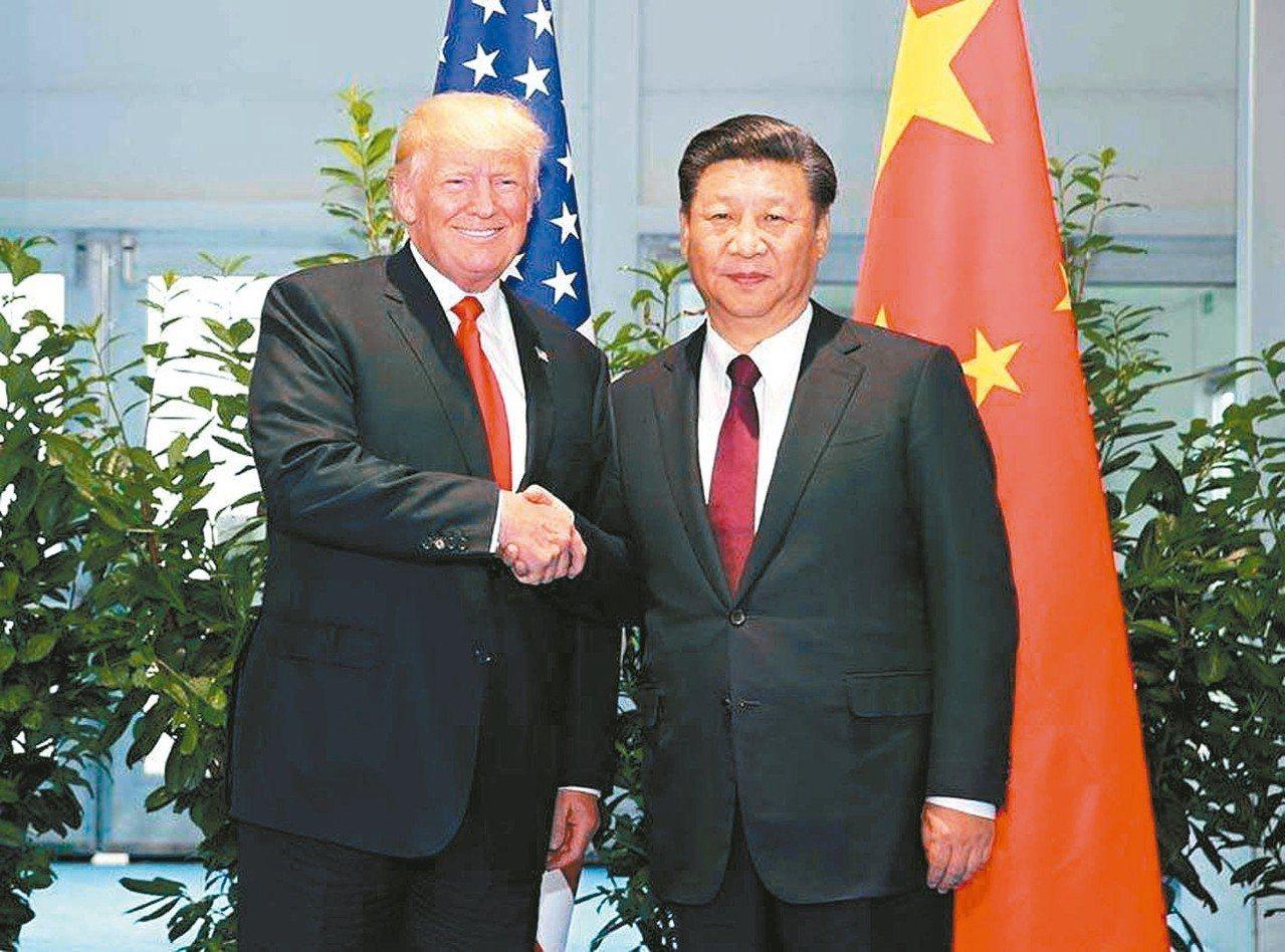 大陸國家主席習近平(右)將出席G20峰會,並將與美國總統川普舉行「川習會」。 本...