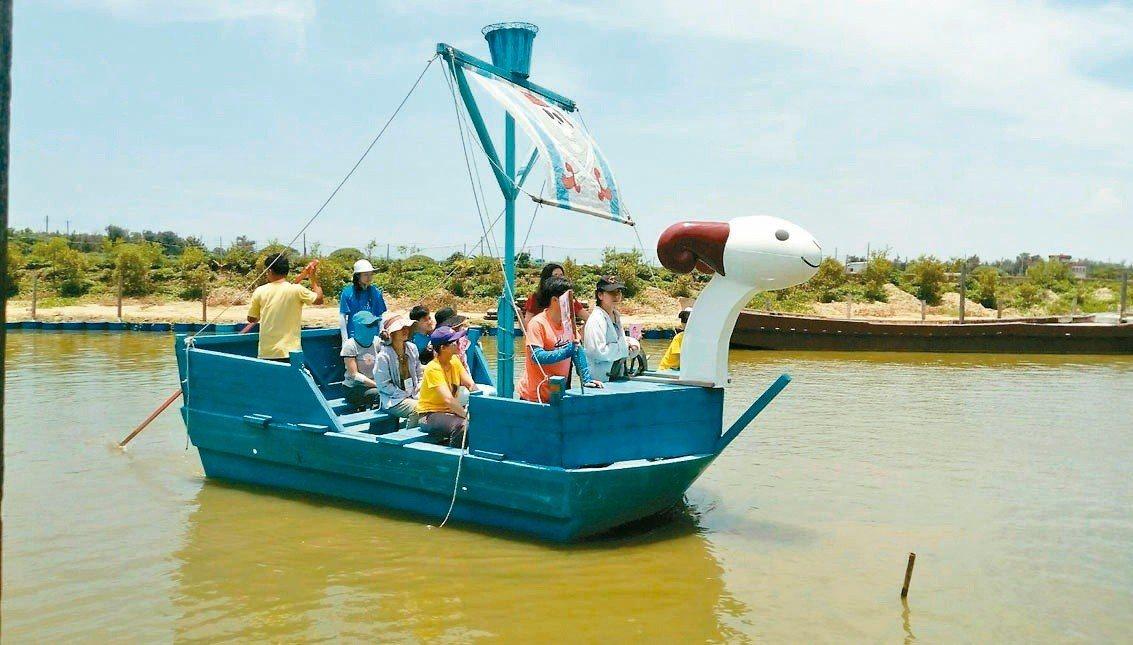 嘉義向禾休閒漁場可以體驗漁村生活。