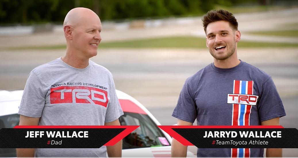 Toyota邀請了殘奧會運動員Jarryd Wallace以及他的父親Jeff來...