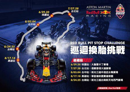 Red Bull Pit Stop Challenge換胎挑戰!全台巡迴、線上活動6月底開跑
