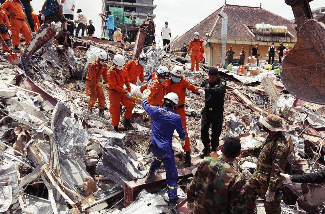 4天過去,斷垣殘壁下還有生還者嗎?」柬埔寨西部沿海的施亞努市(Sihanoukv...