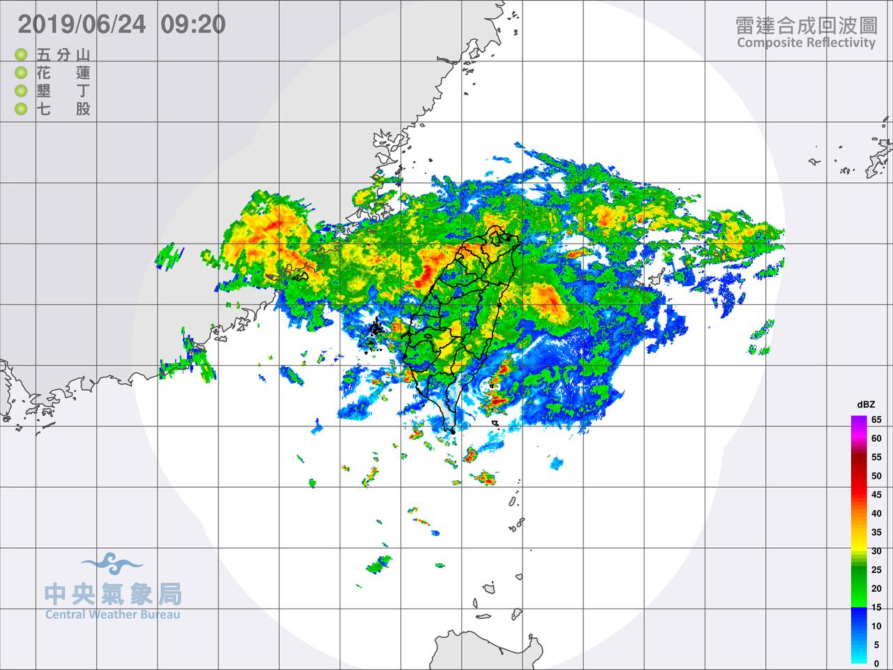 鄭明典表示,五分山、花蓮、墾丁、七股,原本這四座雷達的觀測範圍已經可以蓋滿全台灣...