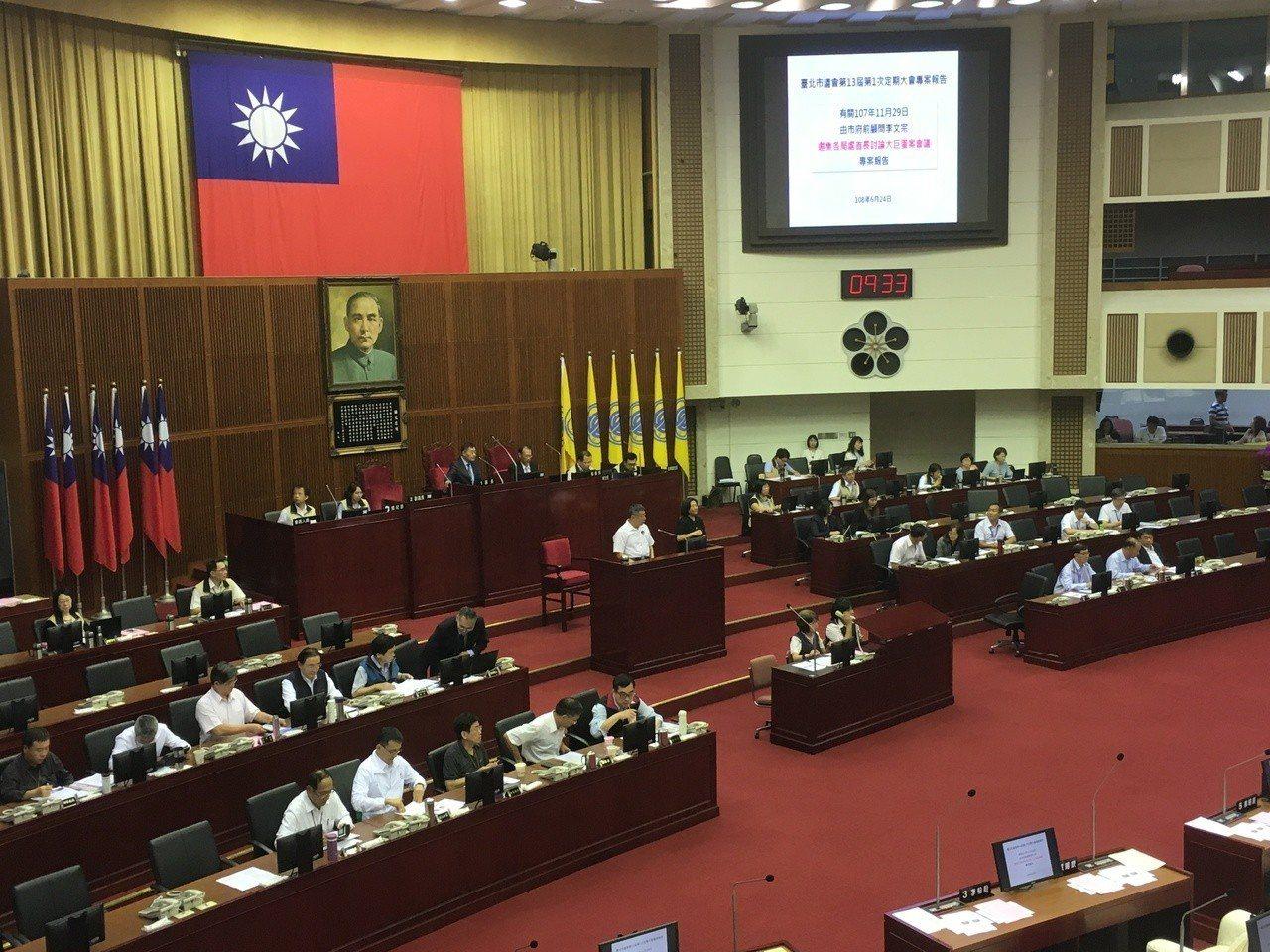 台北市長柯文哲今赴市議會專案報告。記者張世杰/攝影