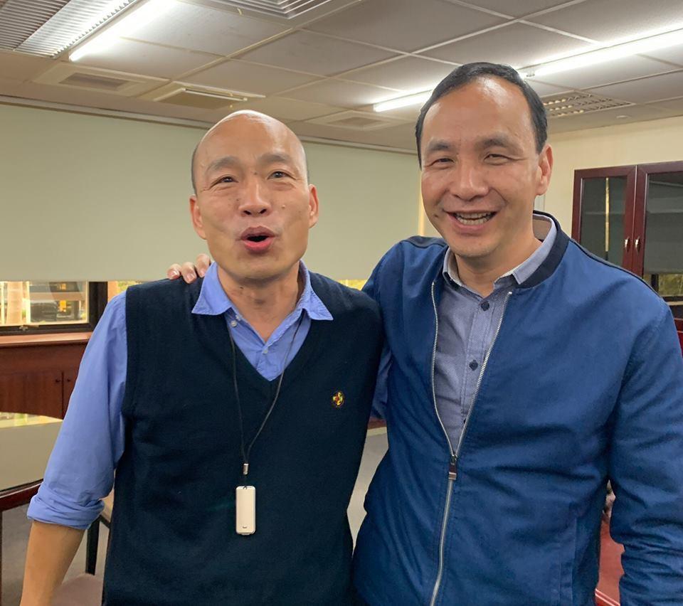 高雄市長韓國瑜與新北市前市長朱立倫明天將一起參加國政發表會。圖/翻攝朱立倫臉書
